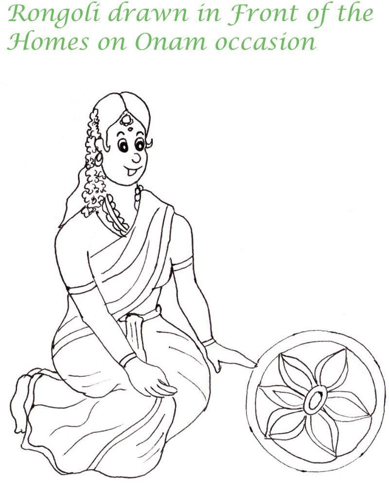 Free pongal coloring pages for Pongal coloring pages