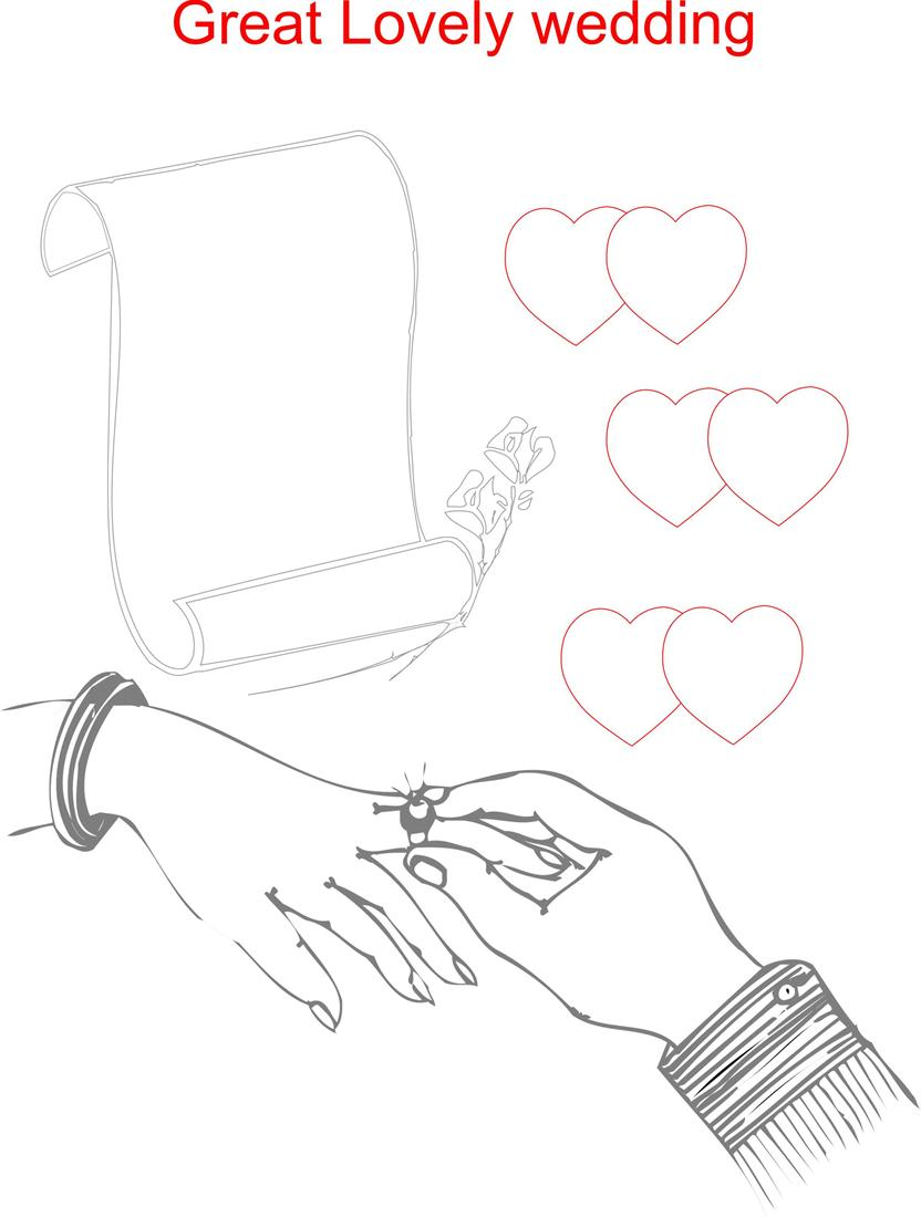 ring ceremony printable coloring page for kids