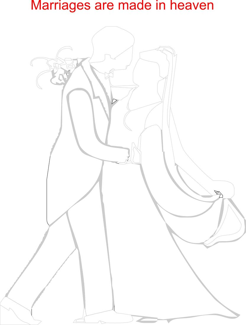 Married couple printable coloring