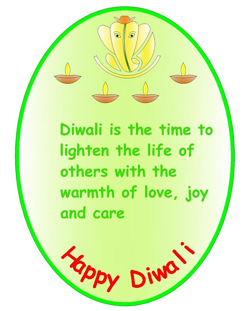 Ganesh Ji Diwali Greeting Card