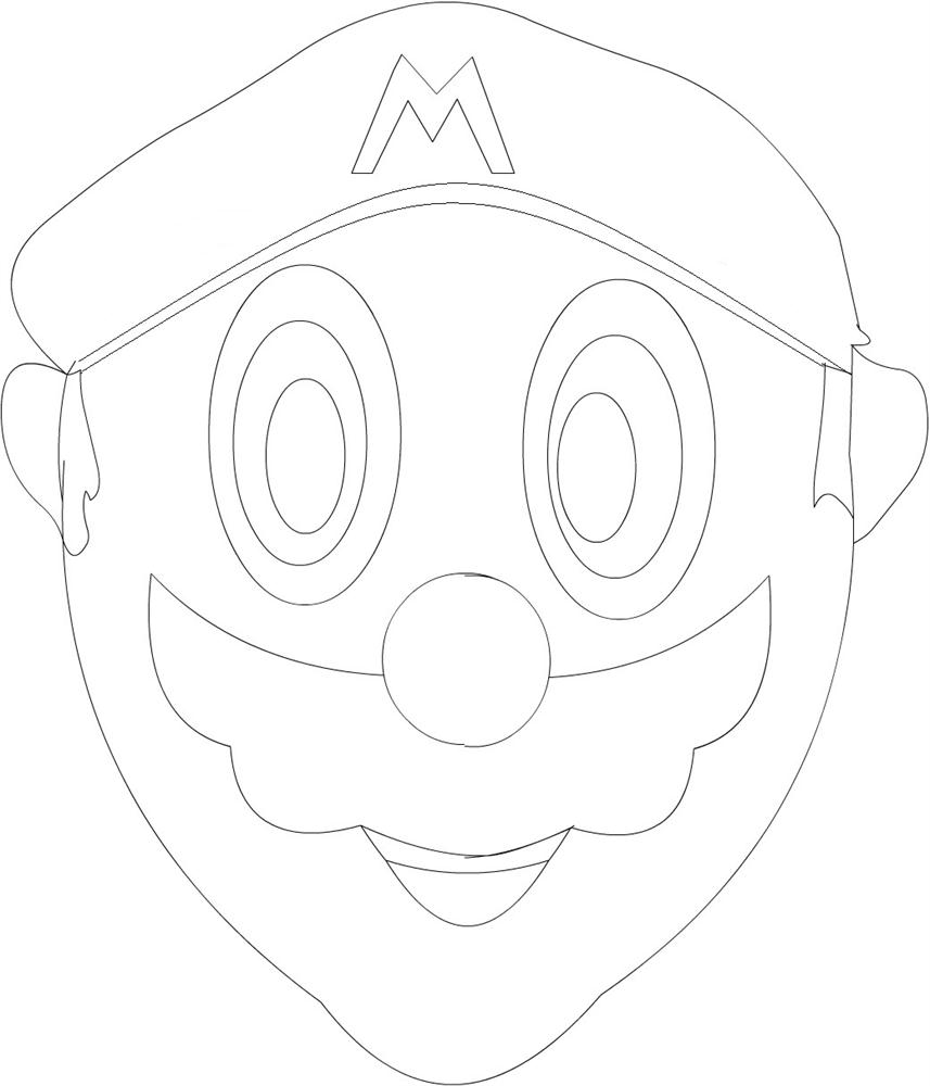 Mario coloring printable page for kids