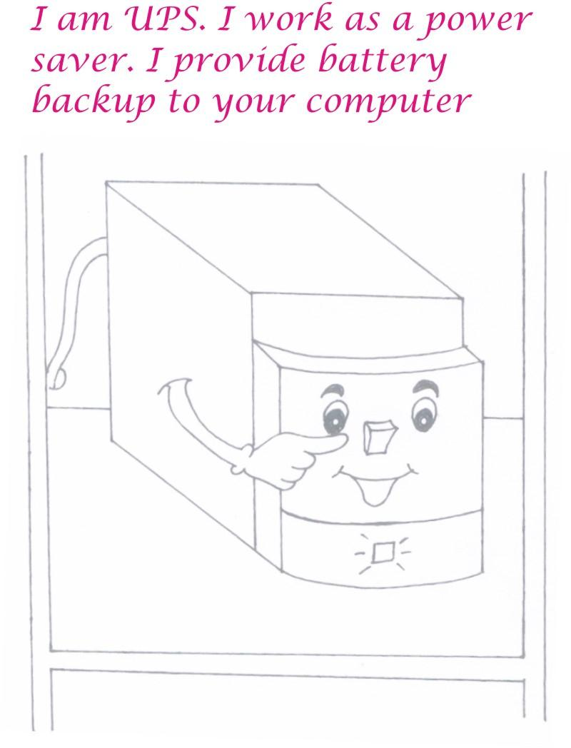 ups coloring page printable - Computer Coloring Pages Printable