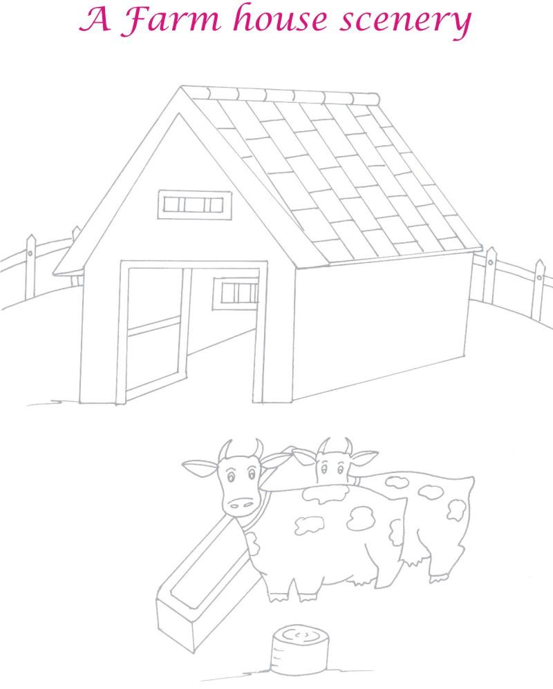 Dairy Farm house coloring page