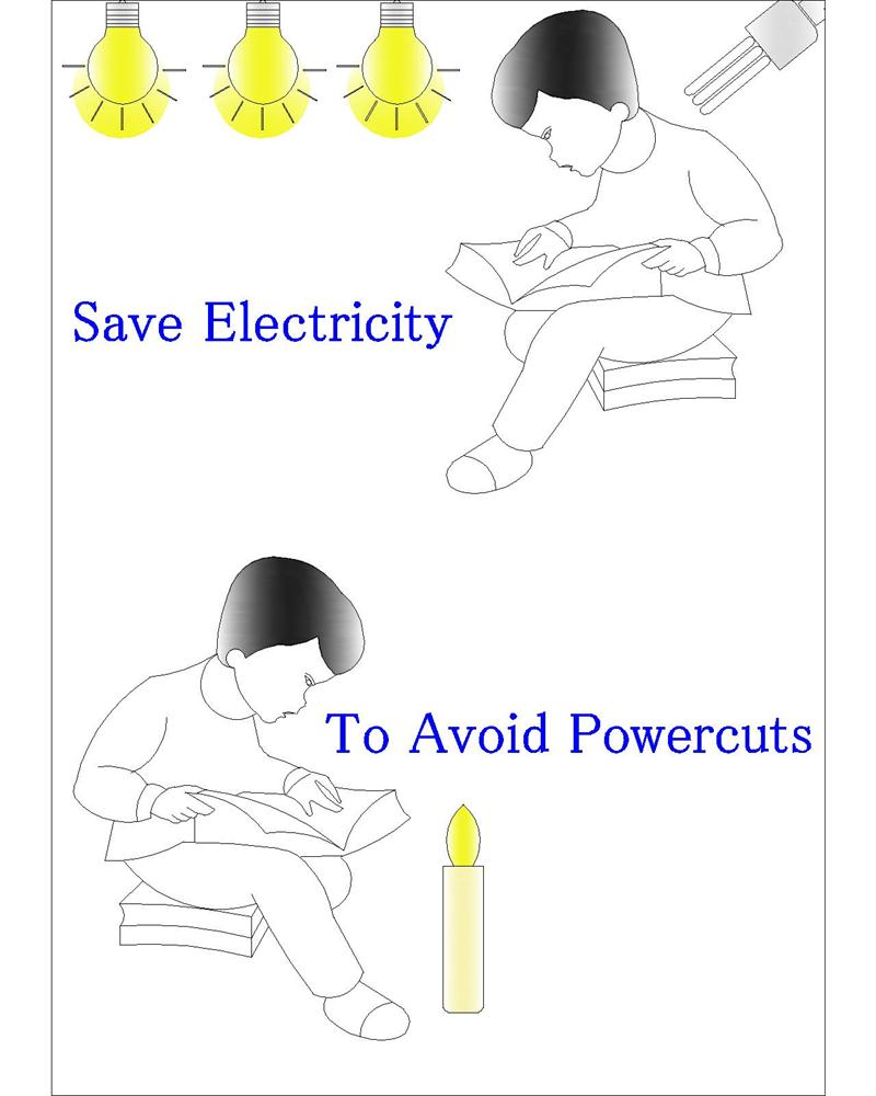 poster to save electricity