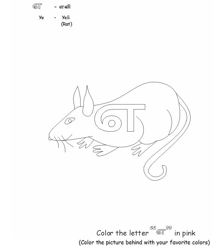 Tamil Letters Worksheet Tamil alphabets printable