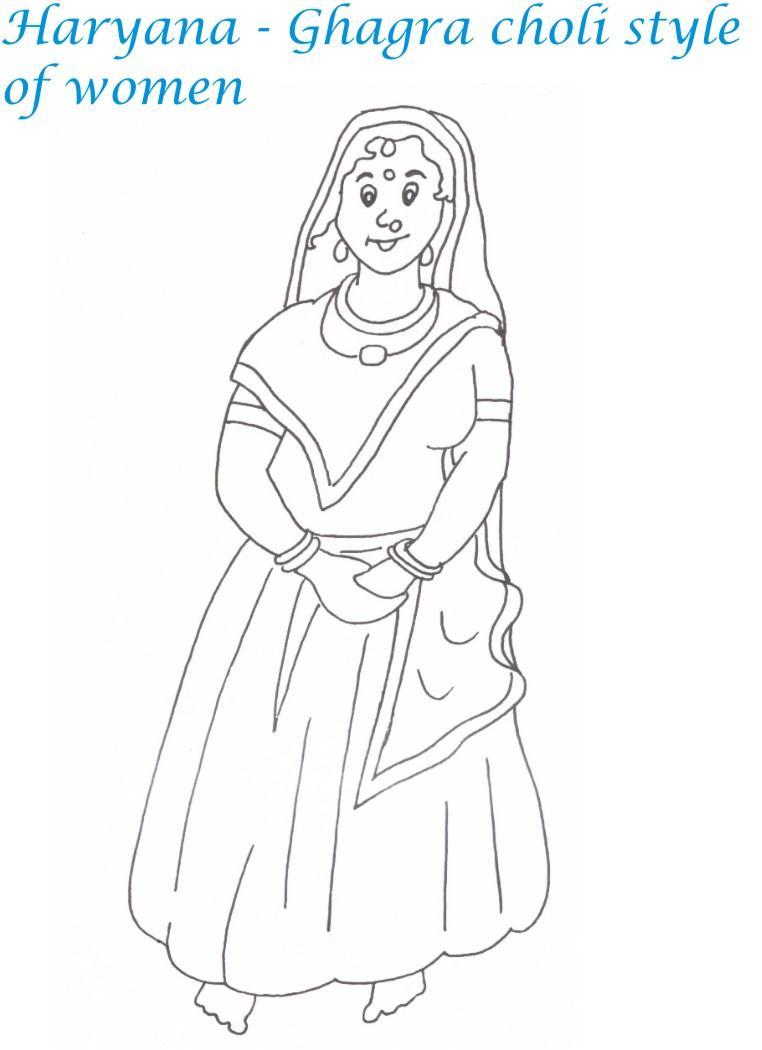 salwar kameez coloring pages - photo#29