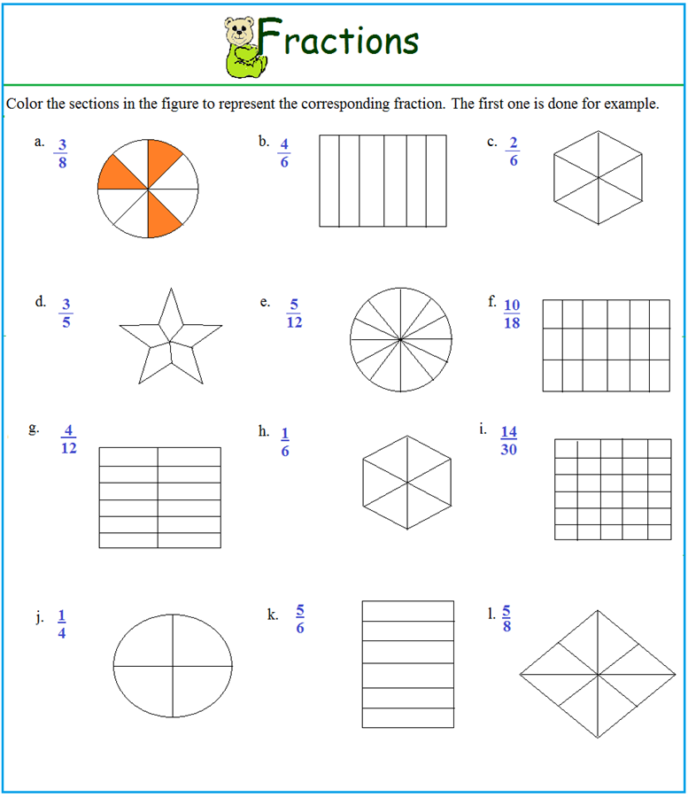 Fractions Of Groups Worksheets Fraction Practice Part Of A Group – Fractions Worksheets for Kids