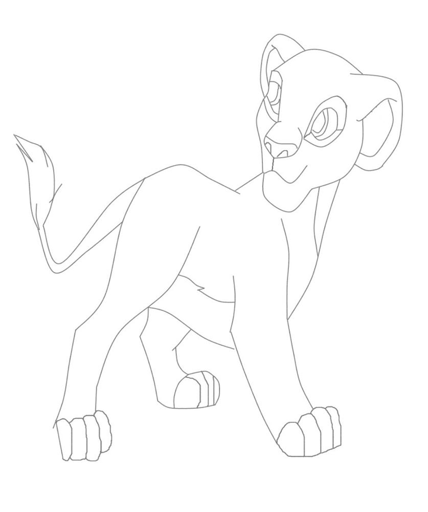 Nala Lion King Character Coloring