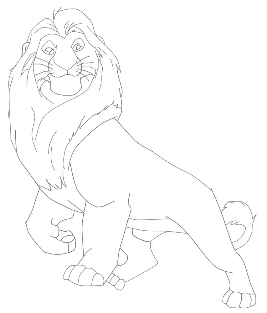 mufasa lion king character coloring page