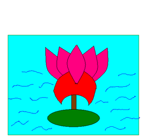 step 12 how to draw a lotus - Drawing For Small Kids