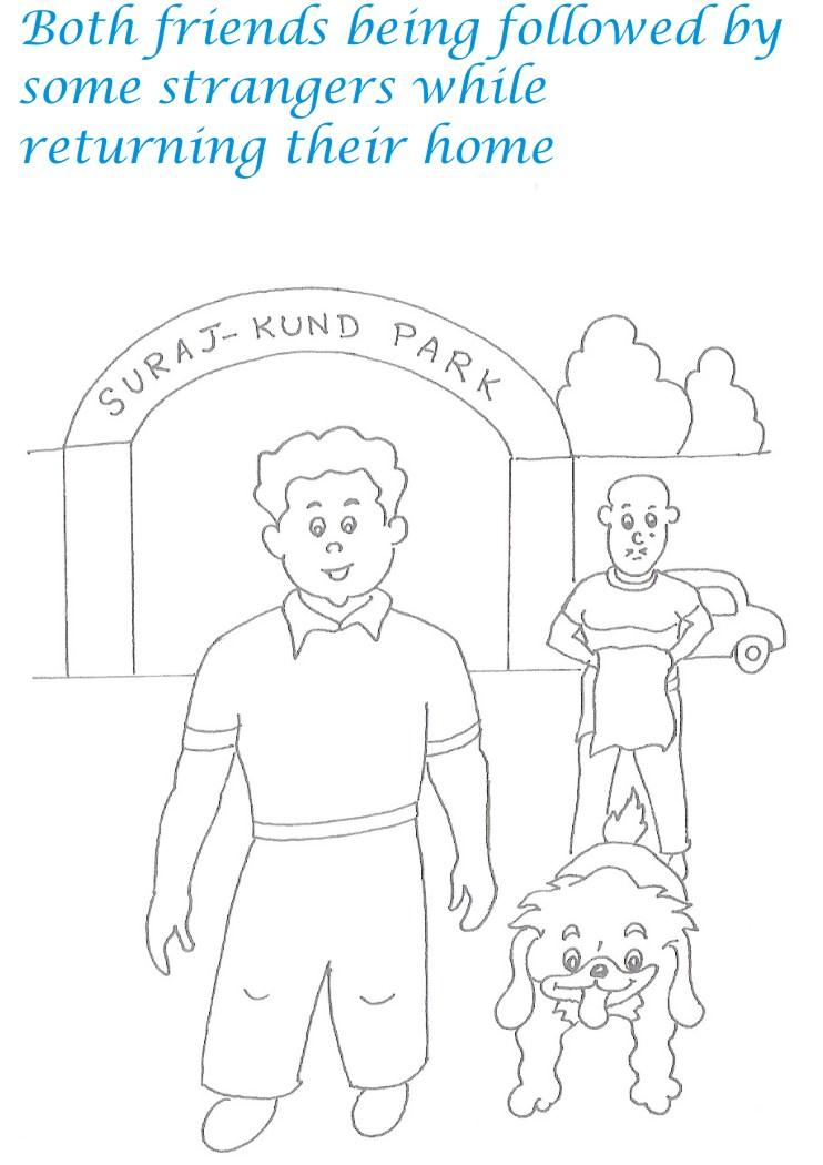 Kidnap story printable coloring pages for kids 21