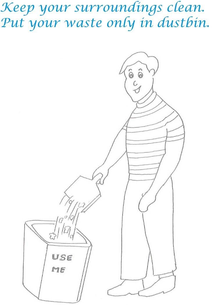 Etiquette for kids in home coloring page 6