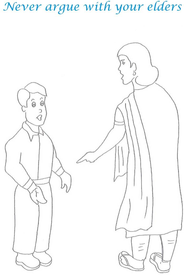 manners coloring pages printables - photo#26