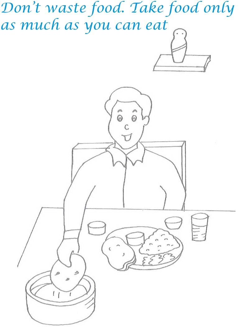 etiquette for kids in home coloring page 26