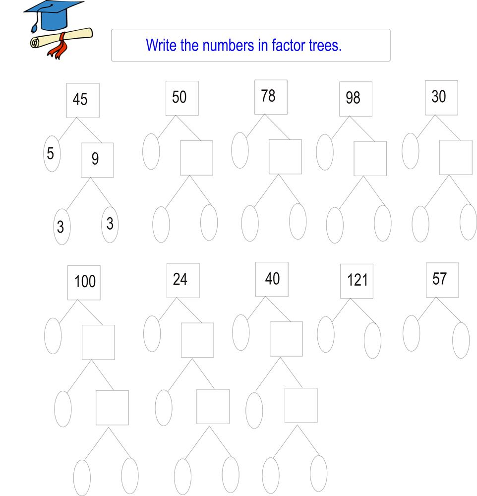 Factor Tree Worksheets Free Worksheets Library