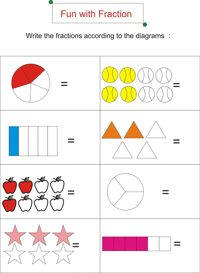 Worksheets Fun Fraction Worksheets fraction is fun page 2