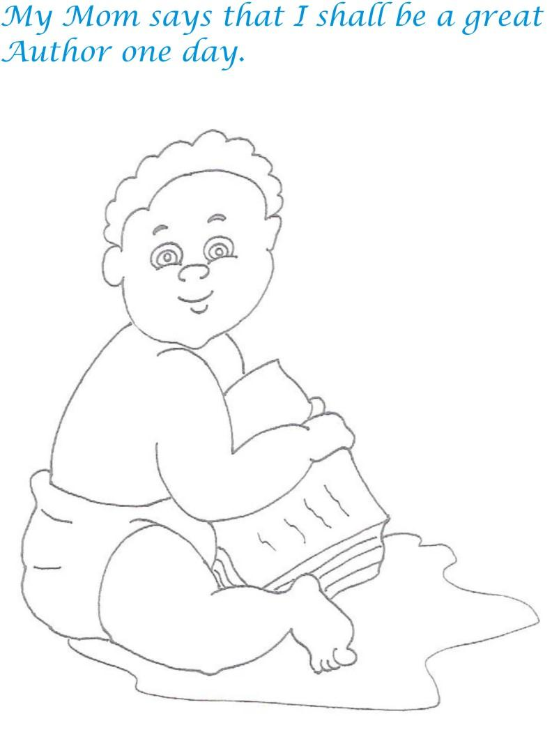 Naughty babies coloring printable page for kids 19 for Naughty coloring pages