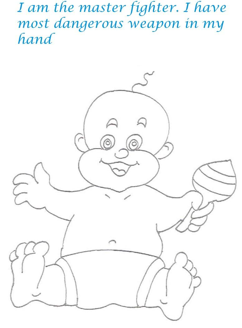 Naughty babies coloring printable pages for kids 1 for Naughty coloring pages