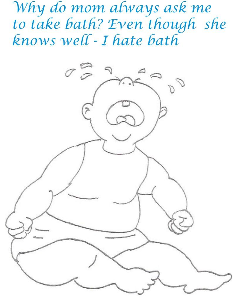 Naughty babies coloring printable pages for kids 2 for Naughty coloring pages