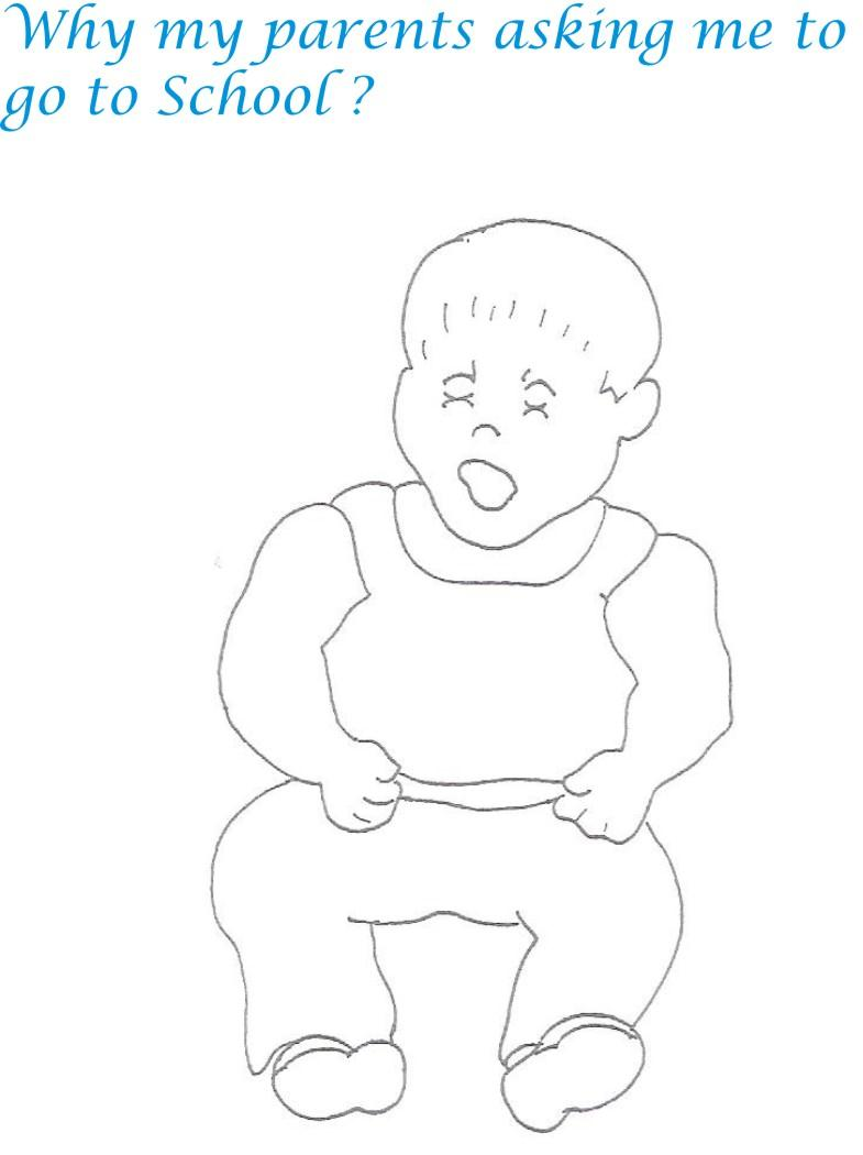 Naughty babies coloring pages