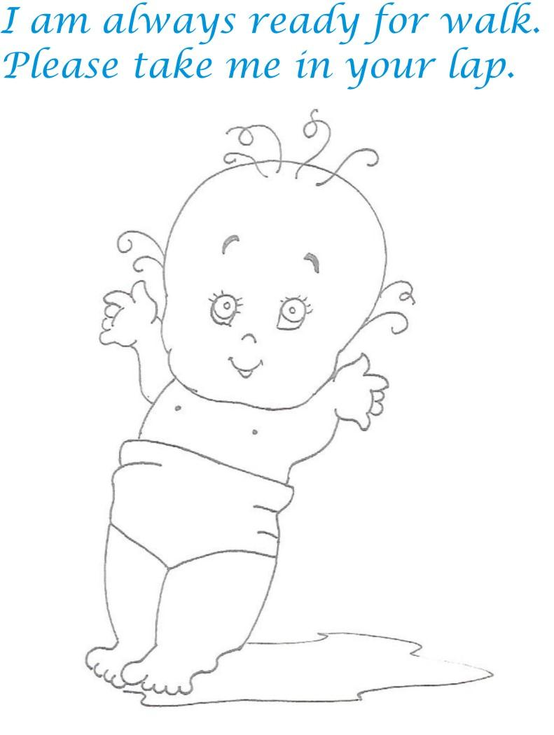 Naughty babies coloring printable page for kids 11 for Naughty coloring pages