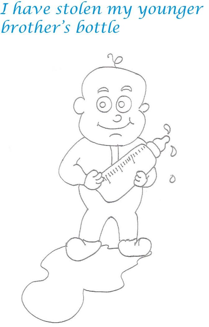 Naughty babies coloring printable page for kids 13 for Naughty coloring pages