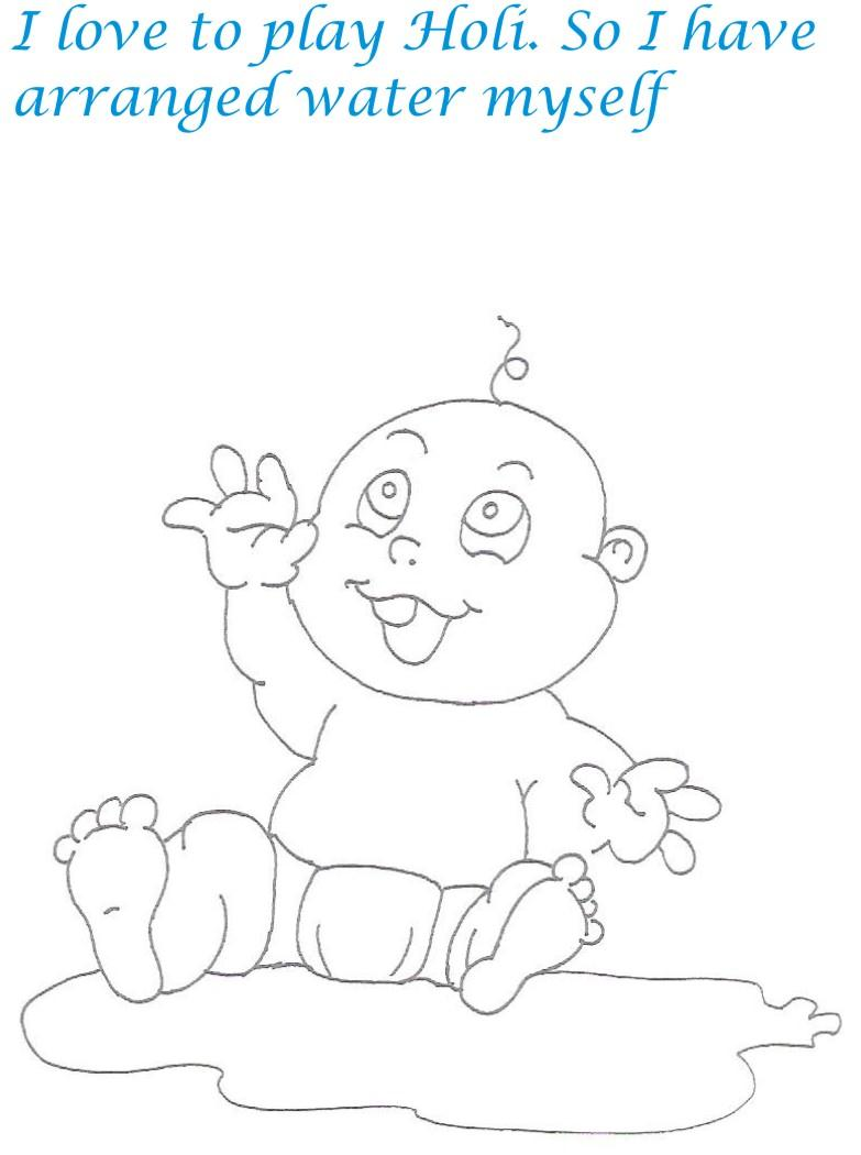 Naughty babies coloring printable page for kids 16 for Naughty coloring pages