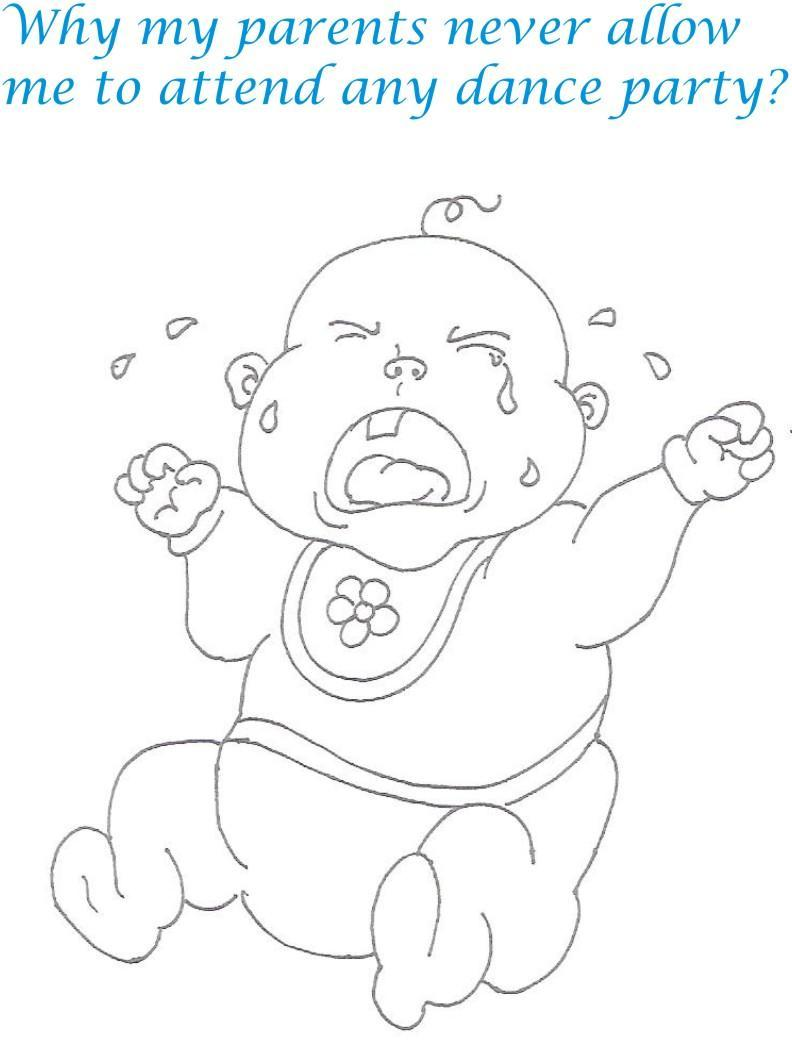 Naughty babies coloring printable page for kids 18 for Naughty coloring pages