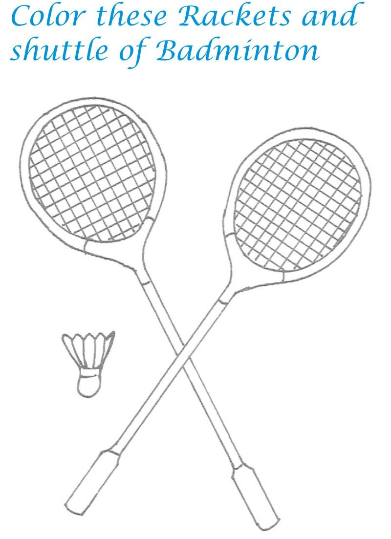 sports goods coloring printable page for kids 20