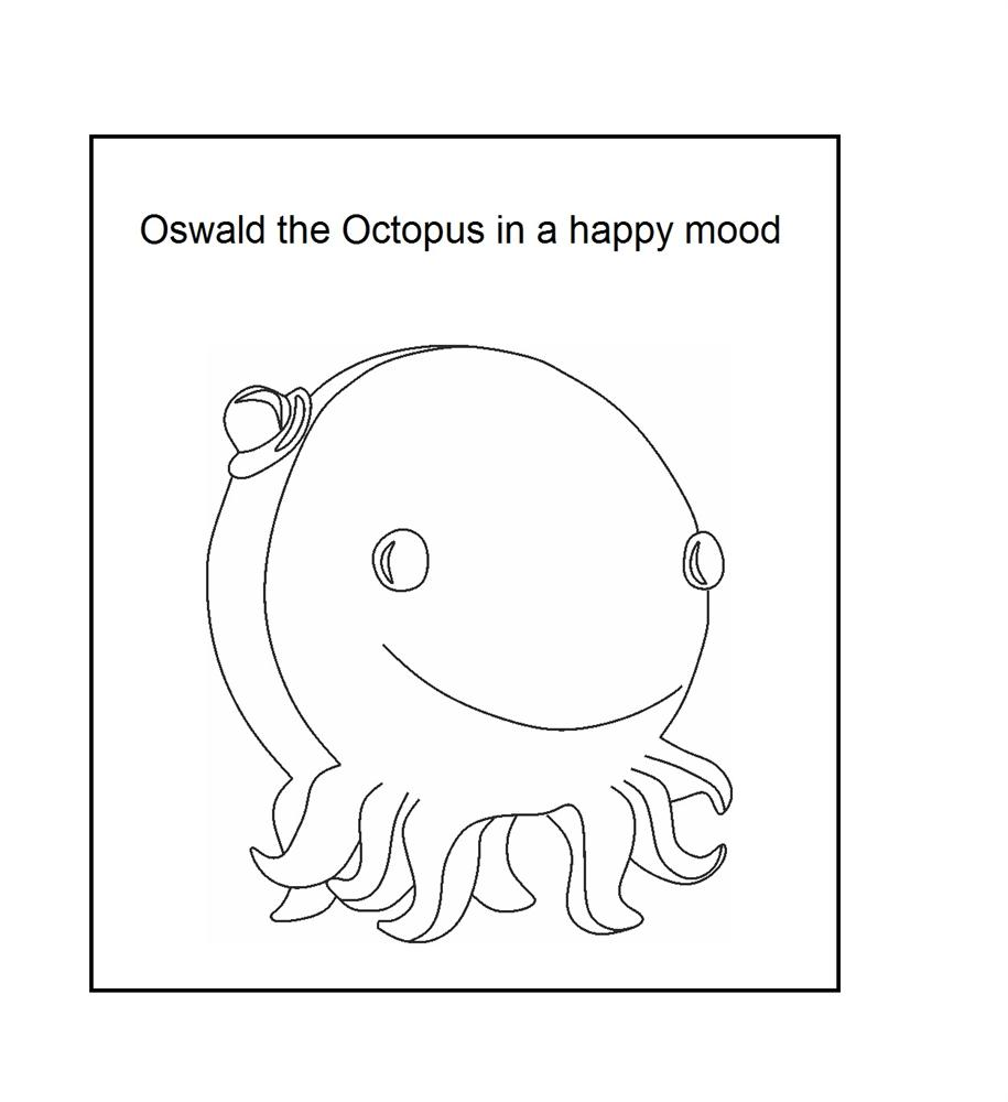 Oswald the octopus Coloring Printable Page