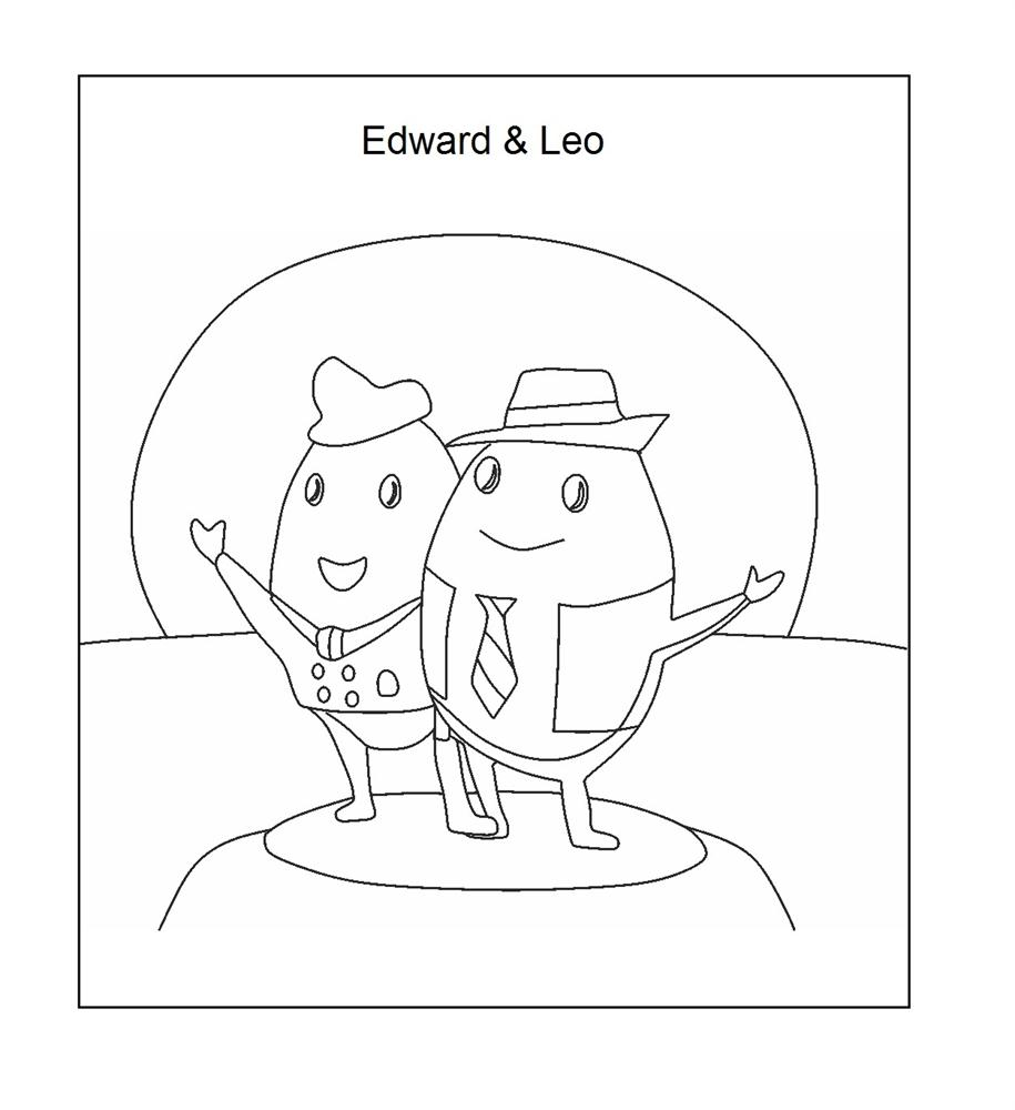 Edward and Leo coloring page printable