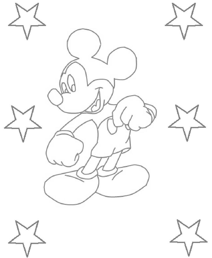 Printable Mickey Mouse Coloring Pages Kids