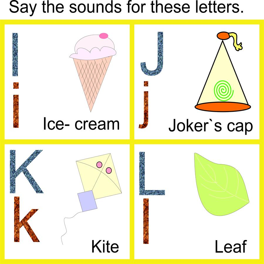 Letters letters worksheets : Letters i to l