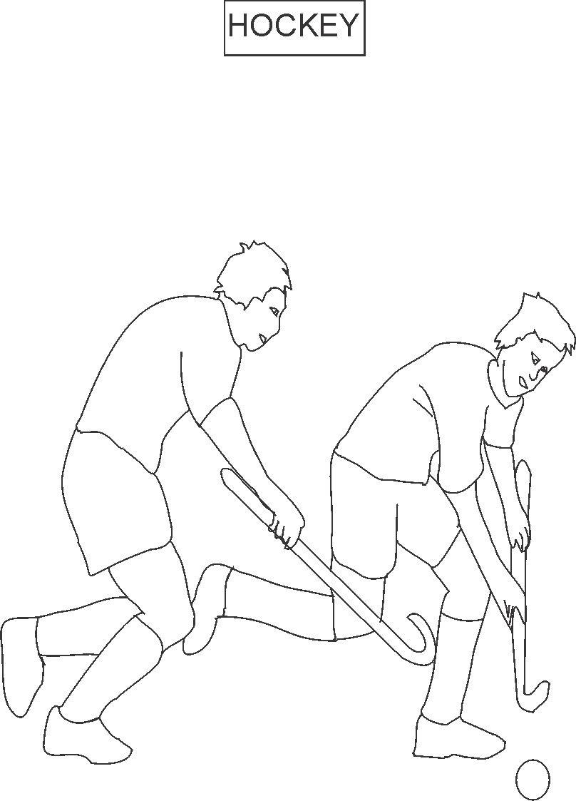 field hockey printable coloring pages - photo#23