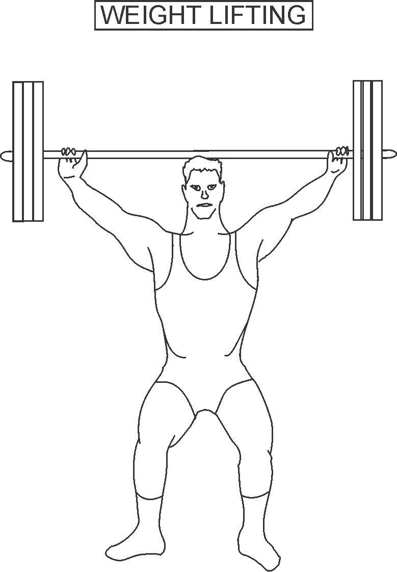 Weight lifting coloring printable