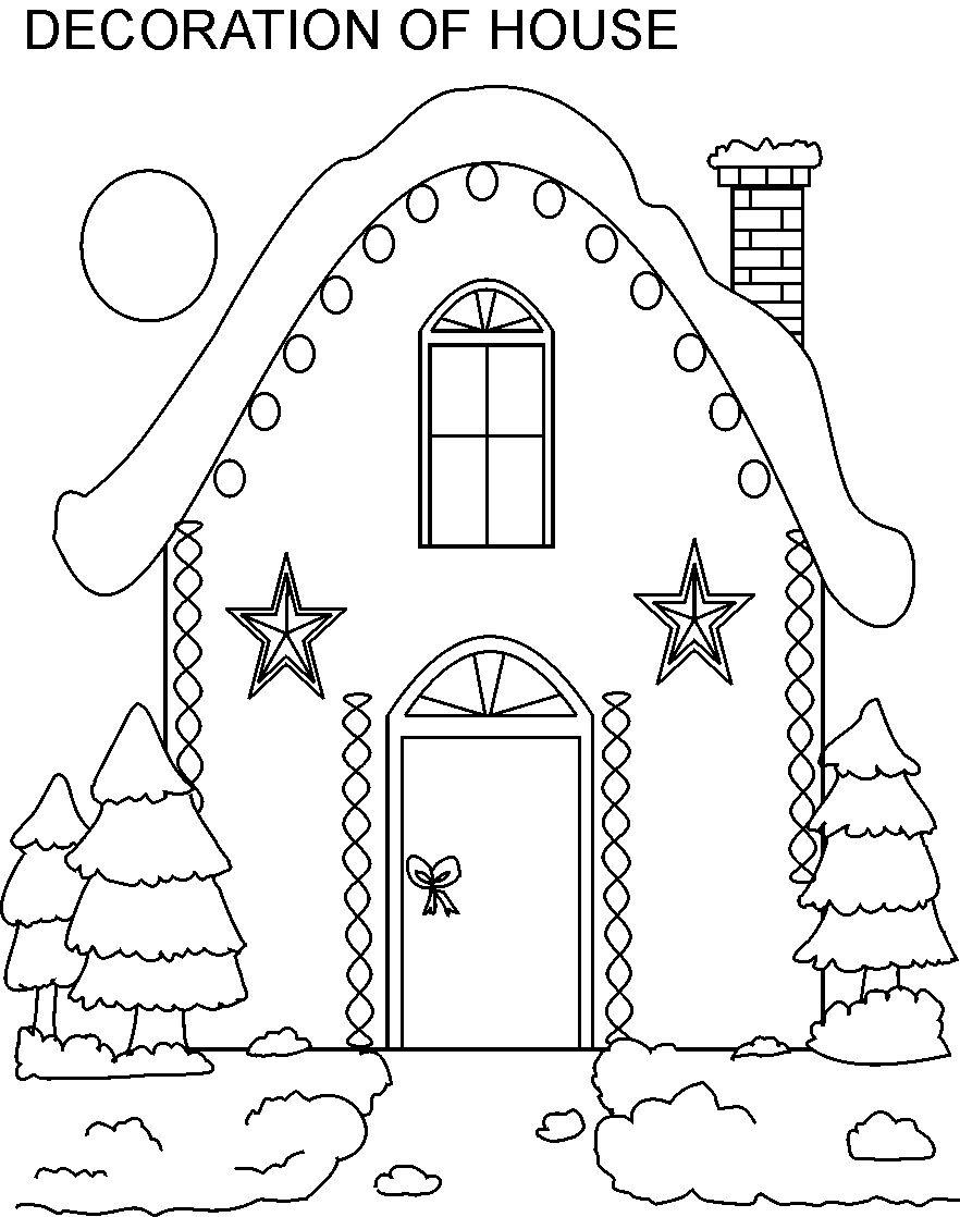 christmas village houses coloring pages - photo#13