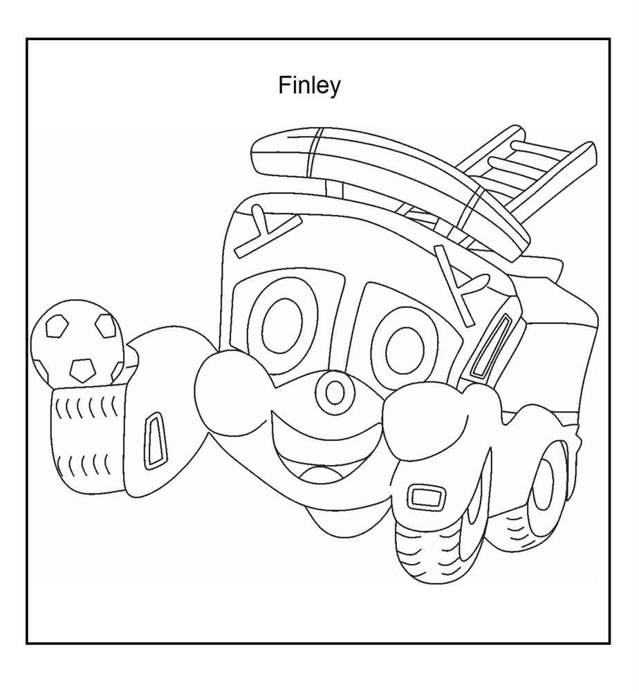 Finley the Fire Engine coloring page for kids