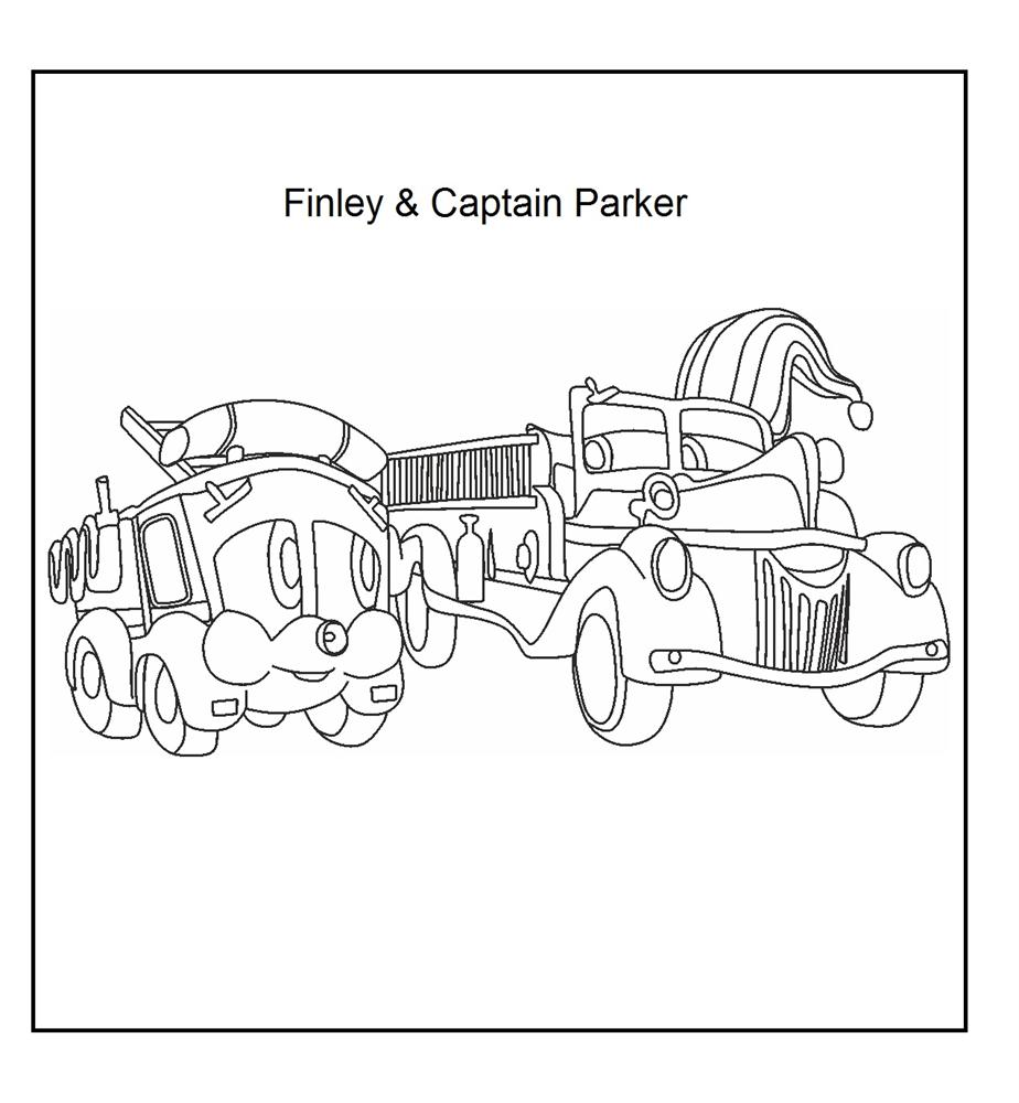 Finley and Captain Parker coloring page for kids