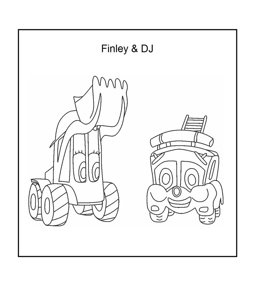 finley and dj coloring printable page for kids