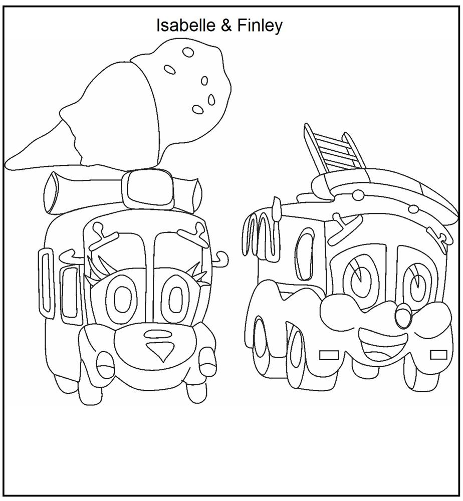 Finley and Isabelle coloring page for kids