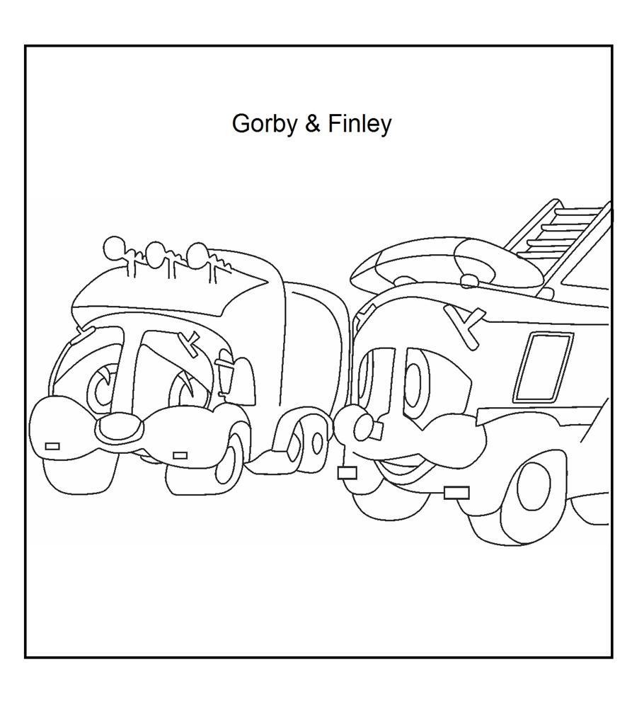 Finley & Gorby coloring page for kids