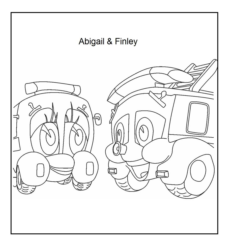 Finley & Abigail coloring printable page for kids