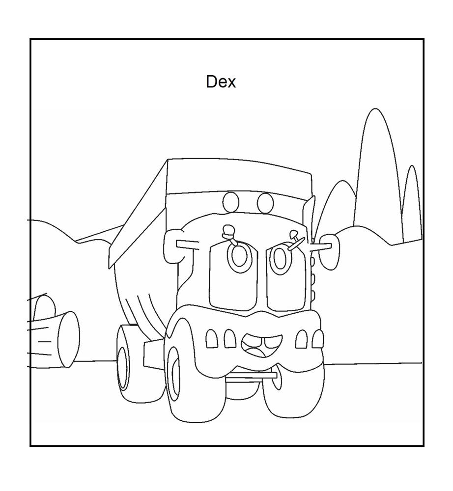 dump truck coloring printable page for kids