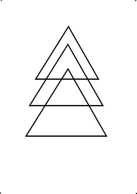 How to draw a decorative Christmas tree using geometrical shapes