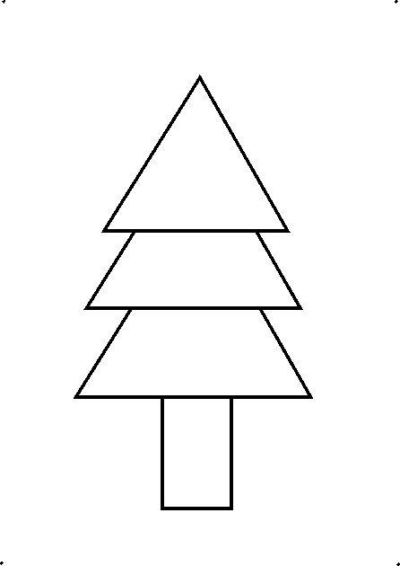 How To Draw A Decorative Christmas Tree Using Geometrical Triangle Tree Coloring Page