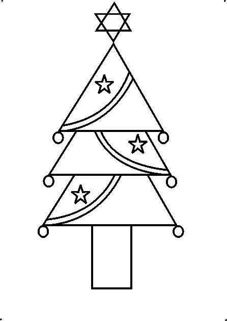 How To Draw A Christmas Tree Step By Step For Beginners.How To Draw A Decorative Christmas Tree Using Geometrical Shapes