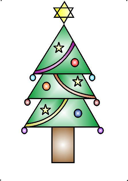 How to draw a decorative Christmas tree using geometrical ...