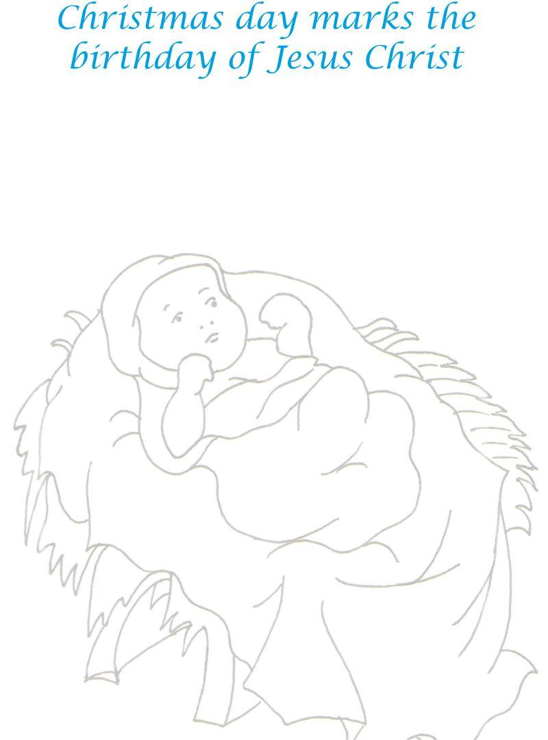 jesus christ birth coloring printable page for kids