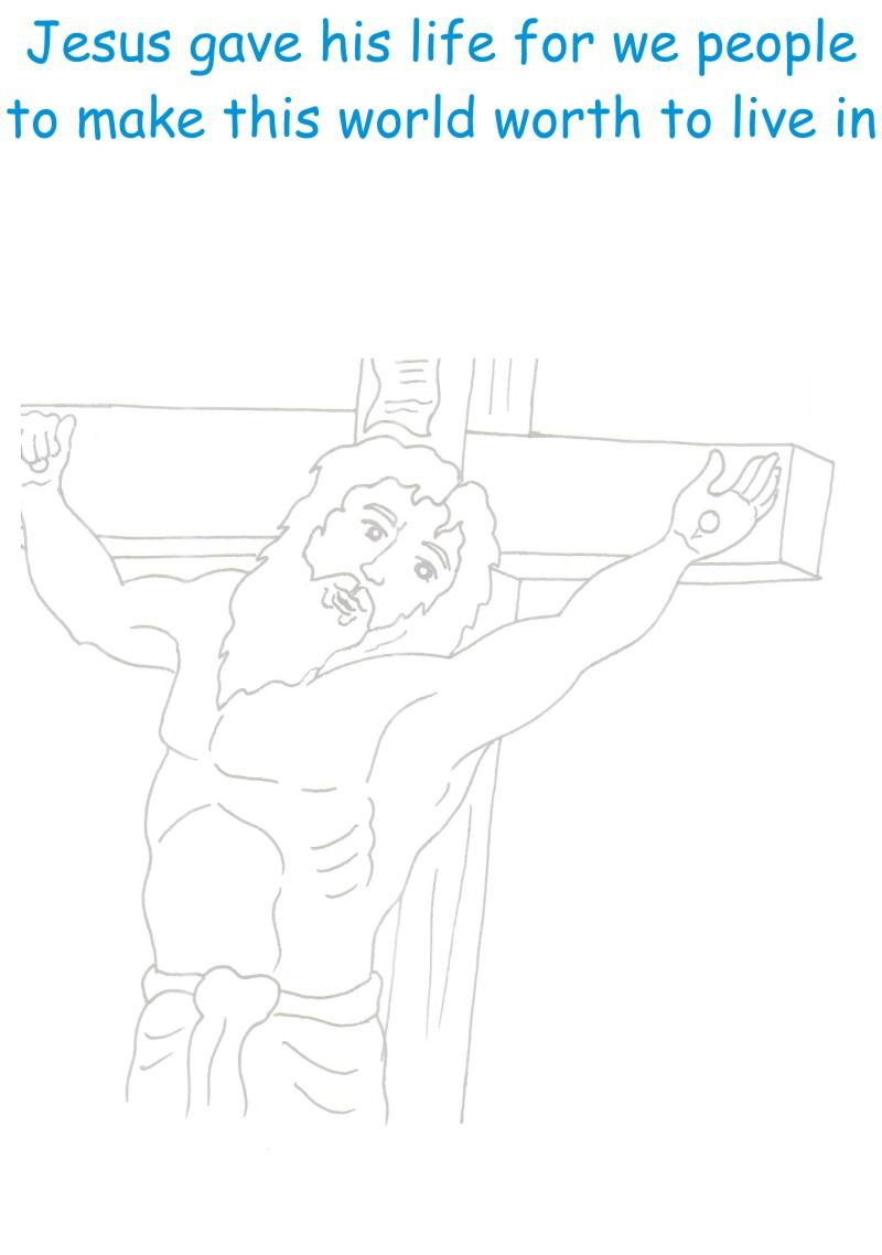 Jesus Christ 2 coloring page printable