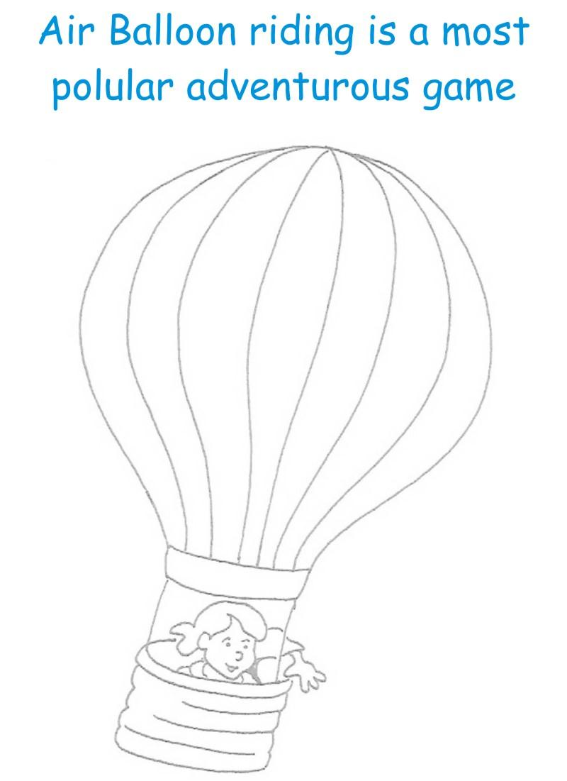 Air Balloon printable coloring page for kids